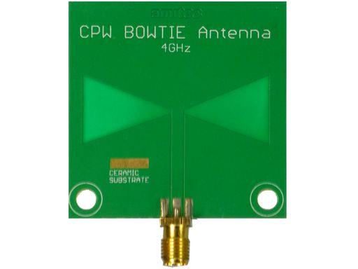 Amitec Coplanar Waveguide Bowtie Antenna