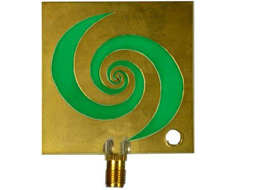 Amitec broadband spiral slot antenna