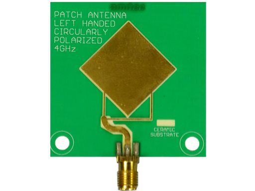 Amitec Left hand circularly polarised(LHCP) patch antenna